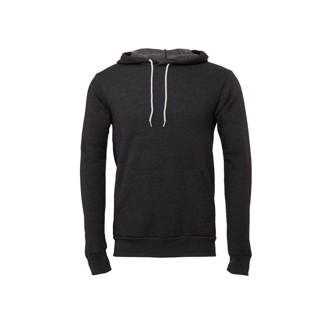 Dark Gray Heather - Front - Canvas Unisex Pullover Hoodie