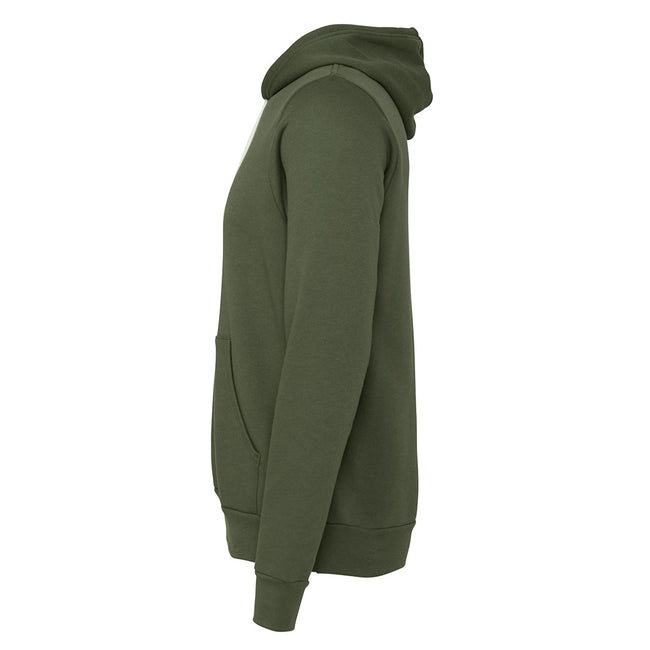 Military Green - Pack Shot - Canvas Unisex Pullover Hoodie