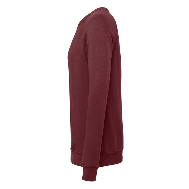 Maroon - Side - Bella + Canvas Adults Unisex Sponge Fleece Sweatshirt