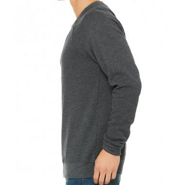 Dark Gray Heather - Back - Bella + Canvas Adults Unisex Sponge Fleece Sweatshirt
