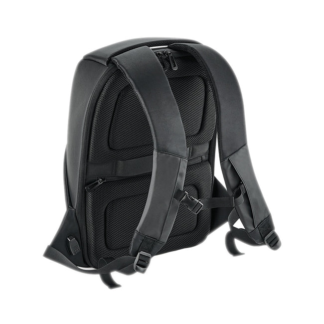 Black - Back - Quadra Project Charge Security Backpack