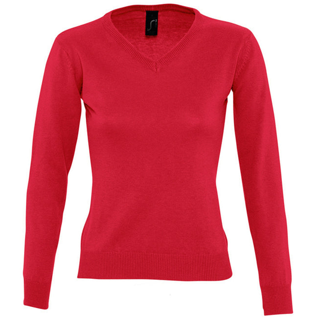 Black - Lifestyle - SOLS Womens-Ladies Galaxy V Neck Sweater