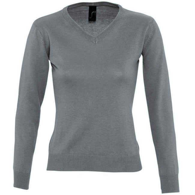 Navy - Front - SOLS Womens-Ladies Galaxy V Neck Sweater