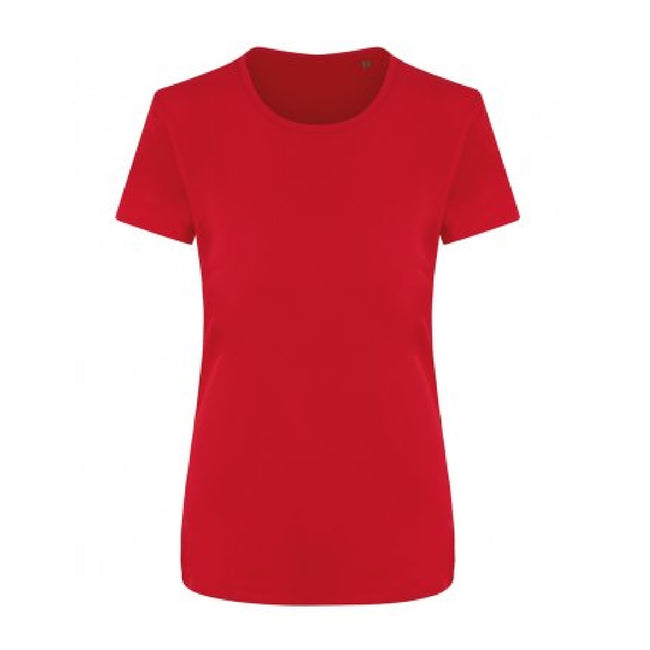 Fire Red - Front - Ecologie Womens-Ladies Ambaro Recycled Sports T-Shirt