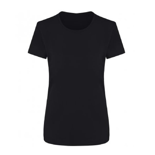 Jet Black - Front - Ecologie Womens-Ladies Ambaro Recycled Sports T-Shirt
