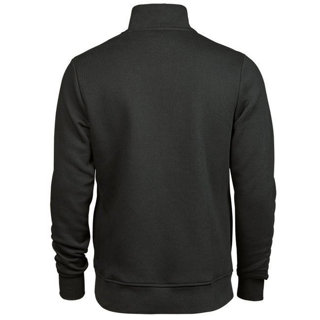 Dark Gray - Back - Tee Jays Mens Half Zip Sweatshirt