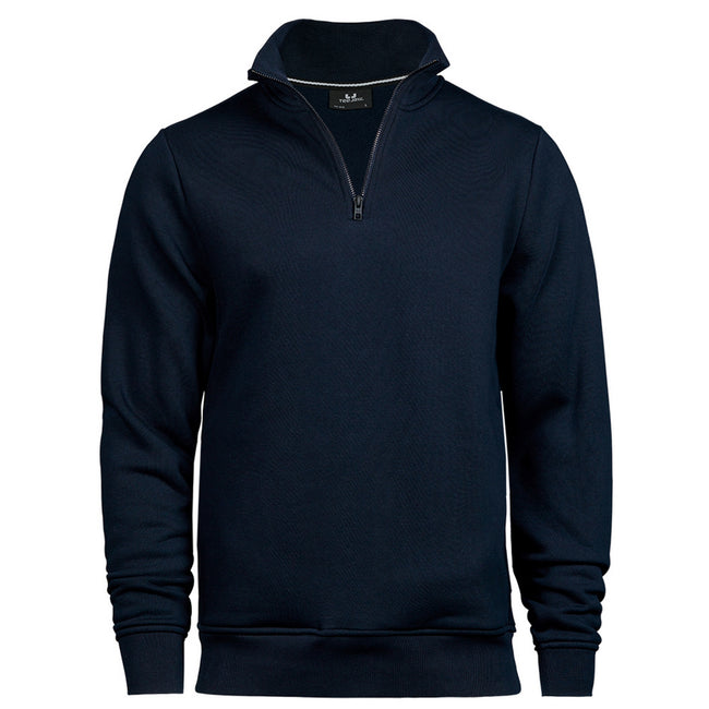 Navy - Front - Tee Jays Mens Half Zip Sweatshirt