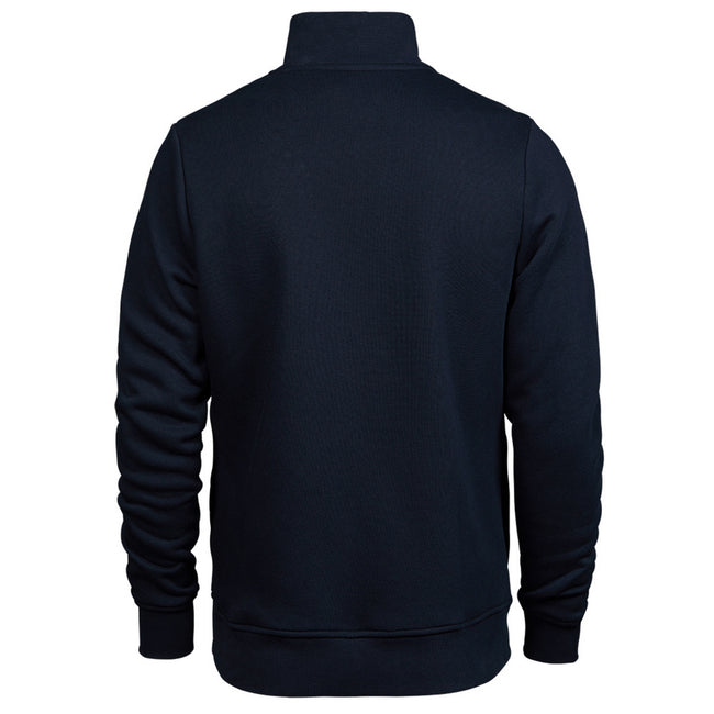 Navy - Back - Tee Jays Mens Half Zip Sweatshirt