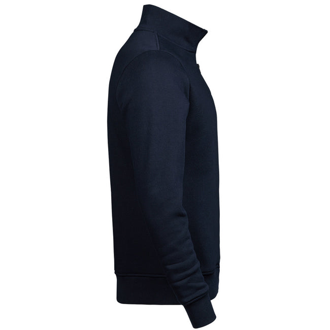 Navy - Side - Tee Jays Mens Half Zip Sweatshirt