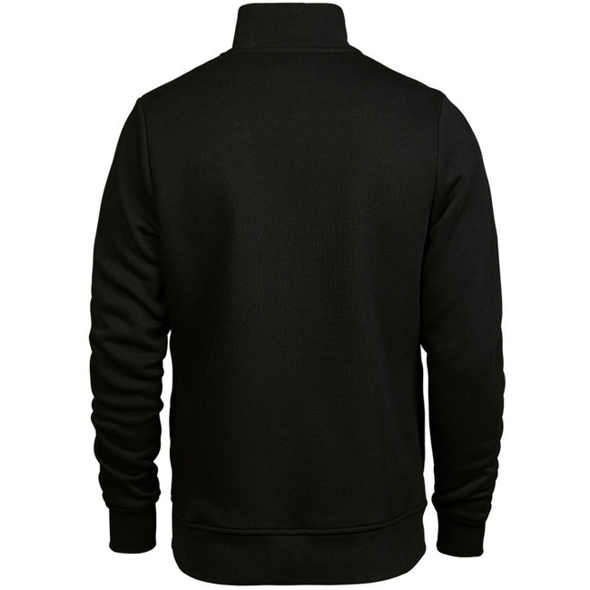 Black - Back - Tee Jays Mens Half Zip Sweatshirt
