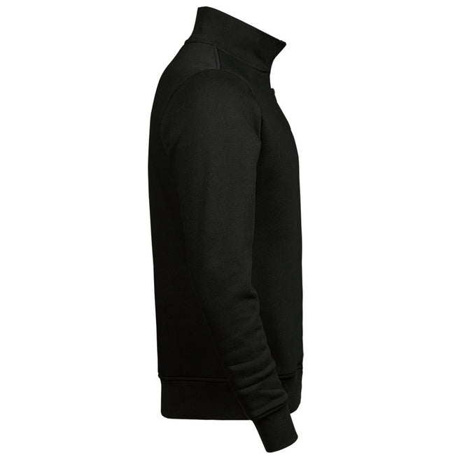 Black - Side - Tee Jays Mens Half Zip Sweatshirt