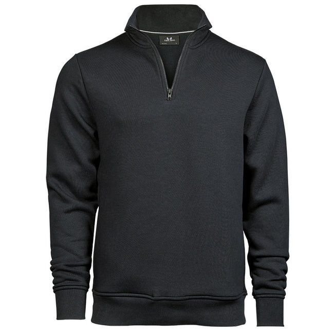 Dark Gray - Front - Tee Jays Mens Half Zip Sweatshirt