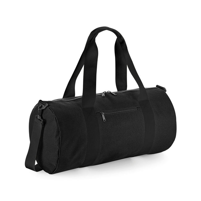 Black-Black - Front - BagBase Original XL Barrel Bag