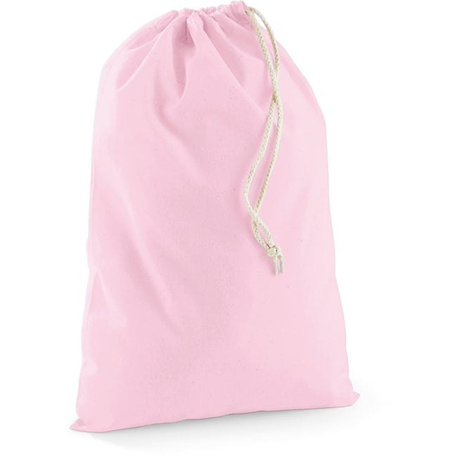 Pink - Front - Westford Mill Drawstring Bag