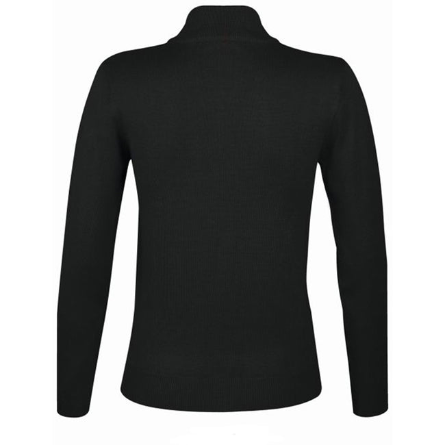 Black - Back - SOLS Womens-Ladies Gordon Full Zip Cardigan
