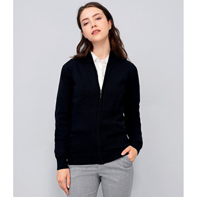 Black - Lifestyle - SOLS Womens-Ladies Gordon Full Zip Cardigan