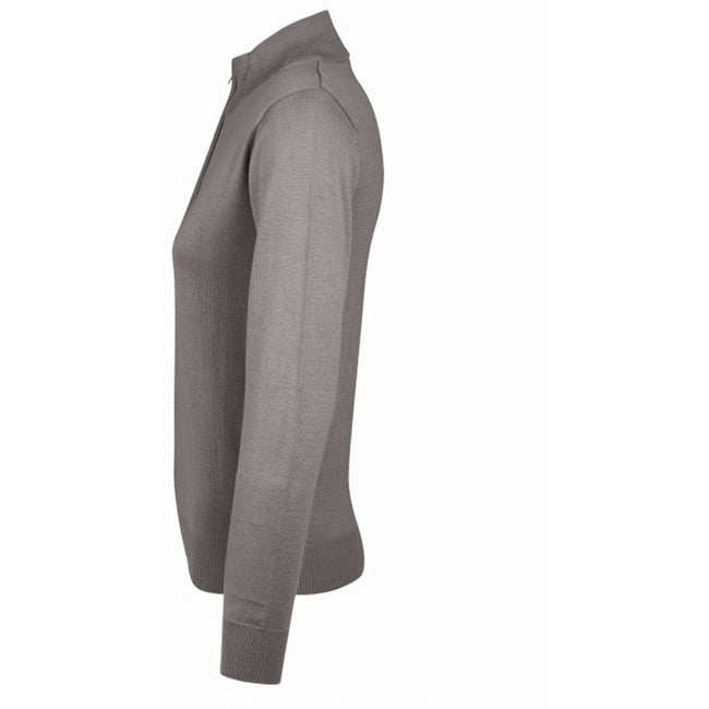 Grey - Front - SOLS Womens-Ladies Gordon Full Zip Cardigan
