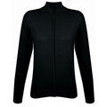 Black - Front - SOLS Womens-Ladies Gordon Full Zip Cardigan