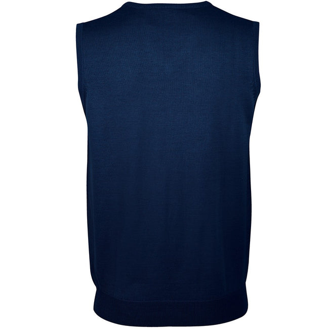 Navy - Back - SOLS Unisex Gentlemen Sleeveless V Neck Sweater Vest