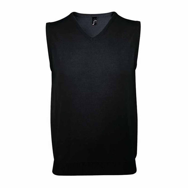 Navy - Lifestyle - SOLS Unisex Gentlemen Sleeveless V Neck Sweater Vest