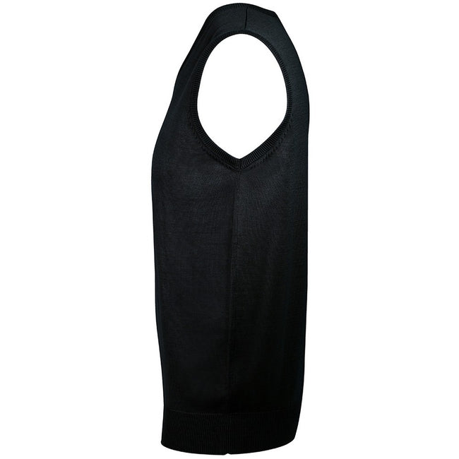 Black - Back - SOLS Unisex Gentlemen Sleeveless V Neck Sweater Vest