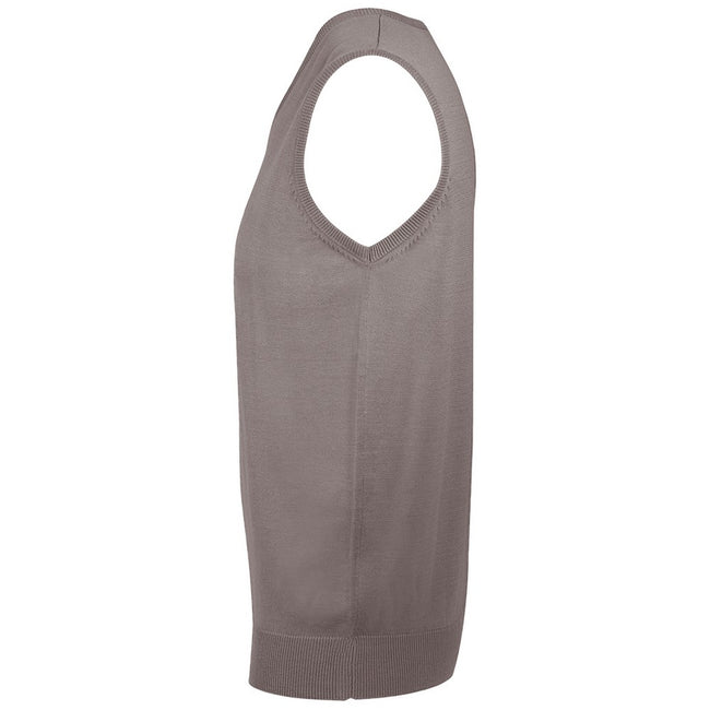 Grey - Front - SOLS Unisex Gentlemen Sleeveless V Neck Sweater Vest