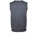 Grey - Back - SOLS Unisex Gentlemen Sleeveless V Neck Sweater Vest