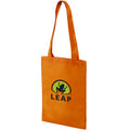 Orange - Back - Bullet Eros Non Woven Small Convention Tote
