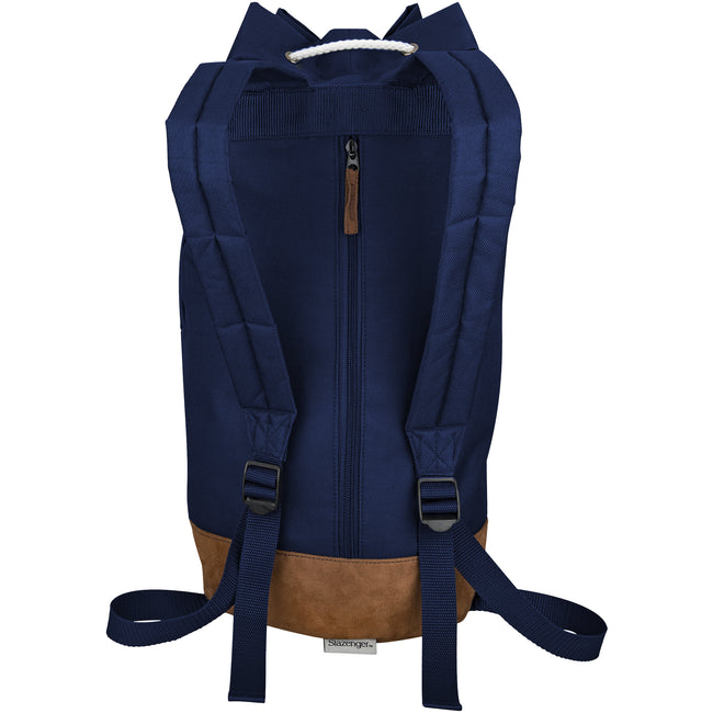 Navy - Back - Slazenger Chester Sailor Bag Backpack