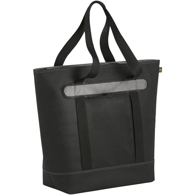 Heather Charcoal - Back - California Innovations 56-Can Lasana Cooler Tote