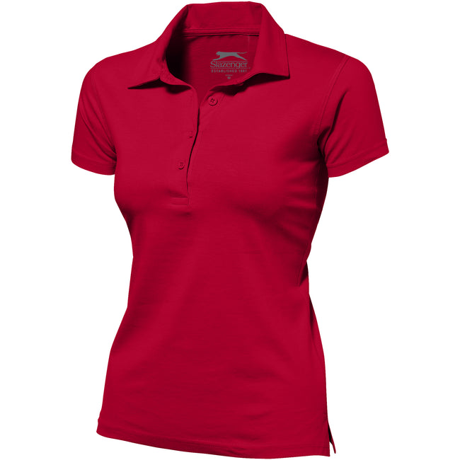 Red - Front - Slazenger Womens-Ladies Let Short Sleeve Polo