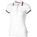 White - Front - Slazenger Womens-Ladies Deuce Short Sleeve Polo