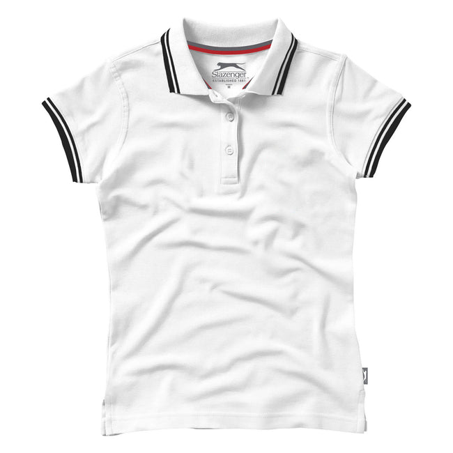 White - Back - Slazenger Womens-Ladies Deuce Short Sleeve Polo
