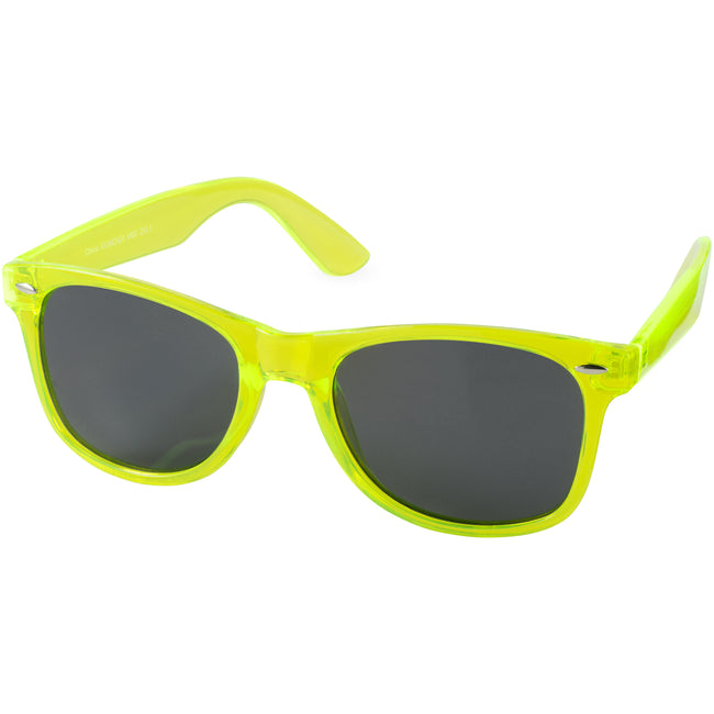 Lime - Front - Bullet Sun Ray Crystal Frame Sunglasses