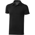 Solid Black - Front - Elevate Mens Markham Short Sleeve Polo
