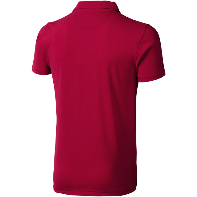 Red - Back - Elevate Mens Markham Short Sleeve Polo