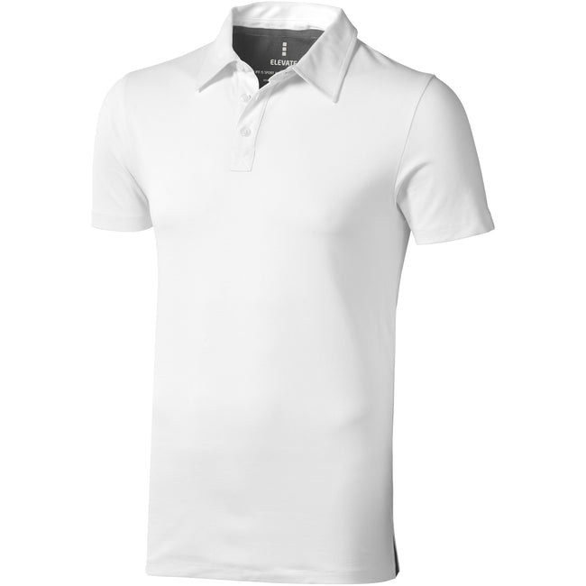 White - Front - Elevate Mens Markham Short Sleeve Polo