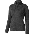 Heather Smoke - Front - Elevate Womens-Ladies Tremblant Knit Jacket