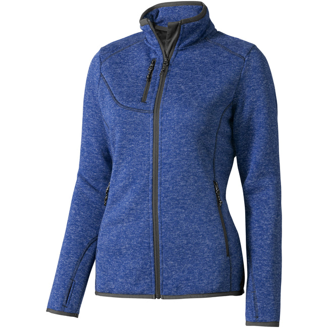 Heather Blue - Front - Elevate Womens-Ladies Tremblant Knit Jacket