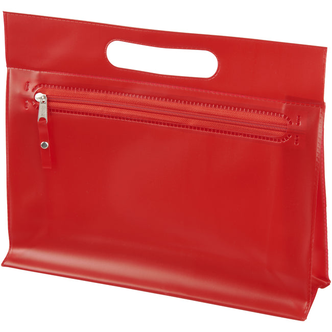 Red - Front - Bullet Paulo Transparent PVC Toiletry Bag