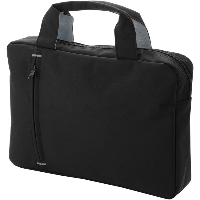 Solid Black-Gray - Front - Bullet Detroit Conference Bag (Pack of 2)