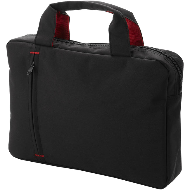 Solid Black-Red - Front - Bullet Detroit Conference Bag (Pack of 2)