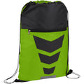 Lime-Solid Black - Front - Bullet Courtside Drawstring Sports Pack (Pack of 2)