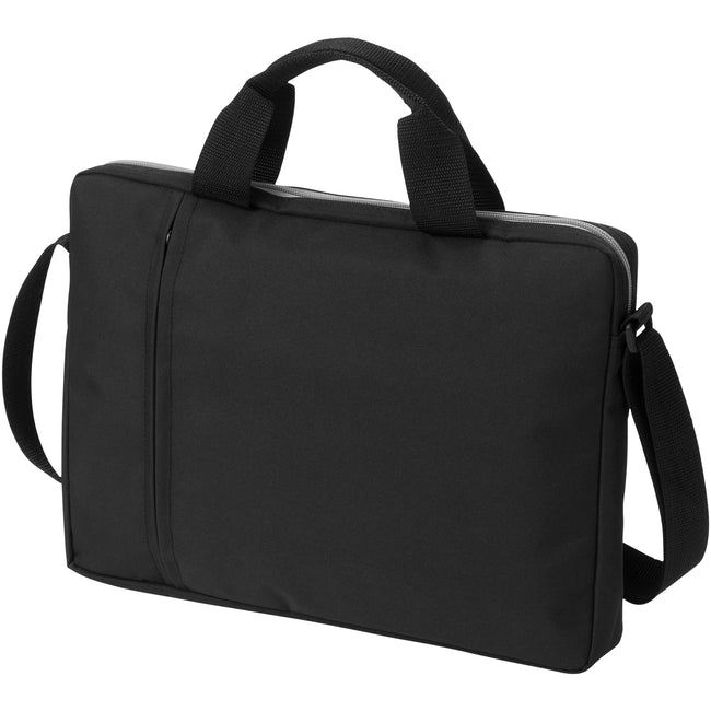 Solid Black - Front - Bullet Tulsa 14in Laptop Conference Bag (Pack of 2)