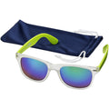 Lime-Transparent - Back - US Basic California Sunglasses (Pack of 2)