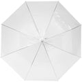 Transparent White - Back - Bullet 23in Kate Transparent Automatic Umbrella