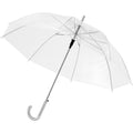 Transparent White - Front - Bullet 23in Kate Transparent Automatic Umbrella