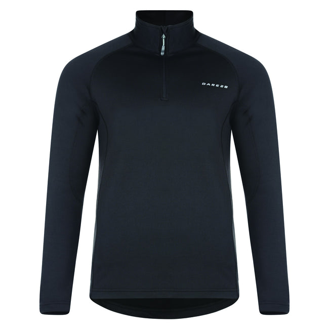 Black - Front - Dare 2B Mens Fuseline II Core Stretch Long Sleeve Top