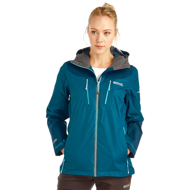 Ocean Depths - Front - Regatta Great Outdoors Womens-Ladies Cross Penine Waterproof Shell Jacket