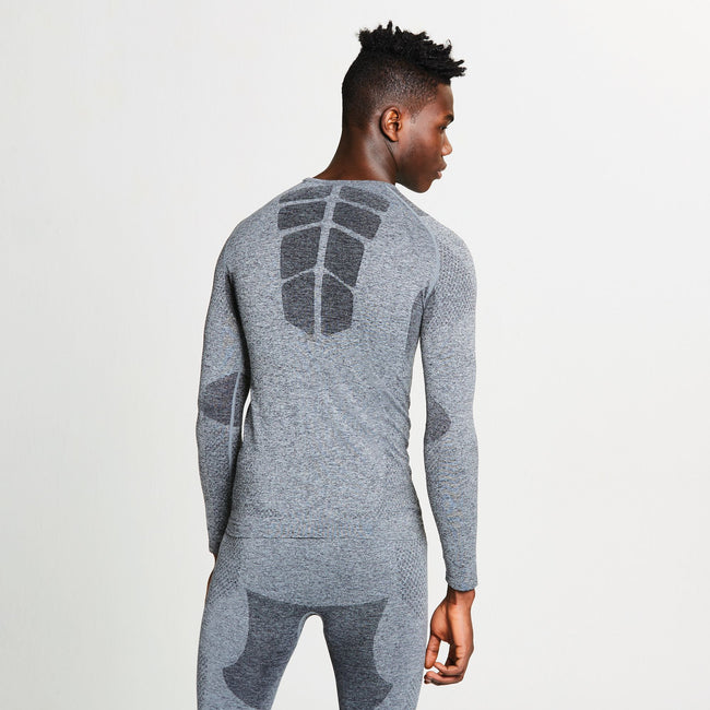 Charcoal Grey - Side - Dare 2B Mens Zonal III Long Sleeve Baselayer Top